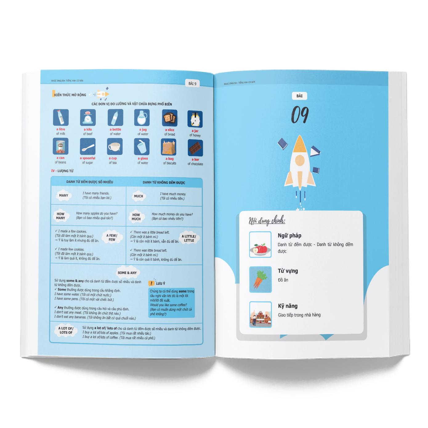 Tiếng Anh Cơ Bản ( Trọn Bộ 2 Tập ) Tặng Kèm CD và  Bookmark